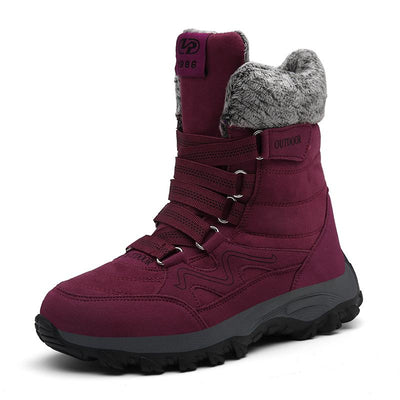 Women's Winter Warm Suede Faux Fur Mesh Breathable Boots