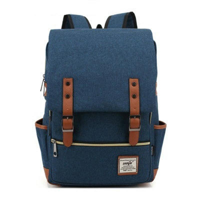 136811 Men and Women Vintage Casual Canvas Backpack Travel Bag School Backpacks