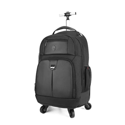 136814 Men's new trolley backpack large capacity short travel backpack travel travel dual-use luggage bag