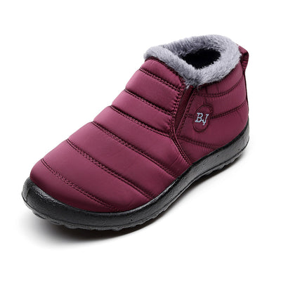 Women's Winter Warm Plush Lining Outdoor Waterproof Casual Snow Boots