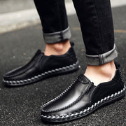 Men's casual shoes new leather sets of feet business men's shoes British trend leather shoes