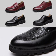Men Microfiber Slip Resistant Soft Casual Business Oxford Shoes