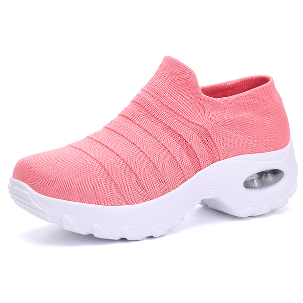 Women's Walking Shoes Sock Sneakers - Mesh Slip On Air Cushion Lady Girls  Platform Loafers