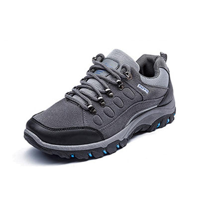 Men's Leather Breathable Waterproof Outdoor Hiking Casual Sports Sneakers