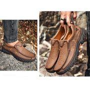Men's Large Size Handmade Leather Tooling Shoes