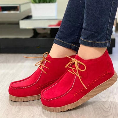 Women Casual Daily Faux Suede Comfy Sneakers