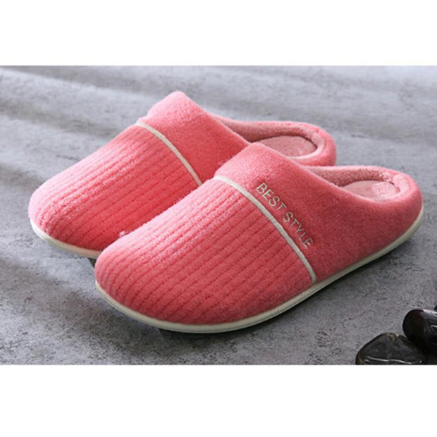 Women's Winter Indoor Home Thick-Bottomed Plush Warm Floor Home Slippers