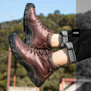 Men's Europe and America Daily Casual Leather Warm Shoes