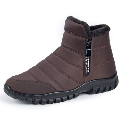 Men's Warm Fur Lining Waterproof Outdoor Winter Non-Slip Snow Ankle Boot