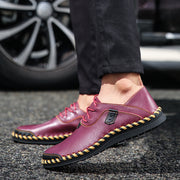 Men's Casual Shoes British Style Moccasins Genuine Leather Flats Quality Split Leather Shoes Flats Moccasins
