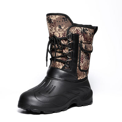 137946 Men's camouflage non-slip warm winter boots winter fishing shoes