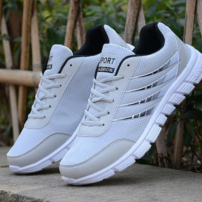 138169 Men Mesh Casual Shoes Breathable Lightweight Running Shoes Lace Up Sport Sneakers