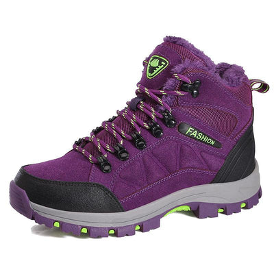 Women Camping Hiking Shoes Plus Velvet Outdoor Large Size Shoes