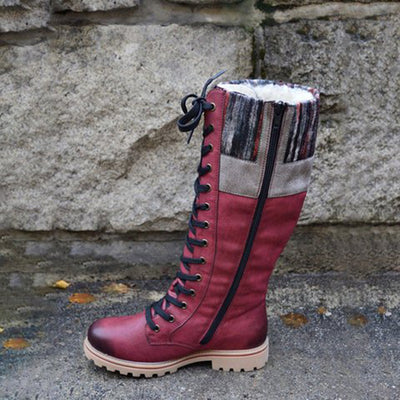Women's retro soft waterproof snow boots