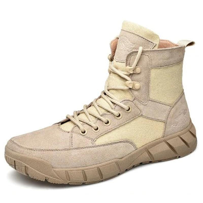 138382 Men's waterproof non-slip leather high-top lace boots