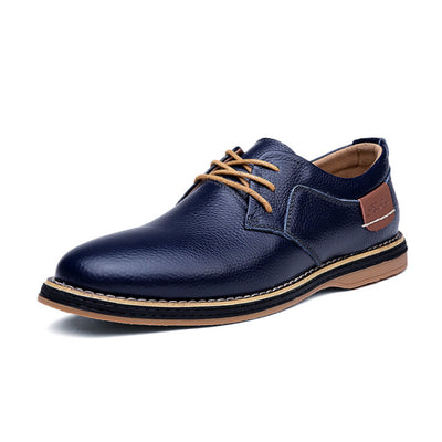 138704  Men Carved Cow Leather Slip Resistant Business Casual Formal Shoes