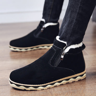 Men's Outdoor Plus Velvet Cotton Snow Boots Warm Comfortable Casual Shoes