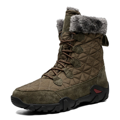 Leather Boots Men Snow Boots Outdoor Super Warm Winter Men Boots Waterproof Keep Warm
