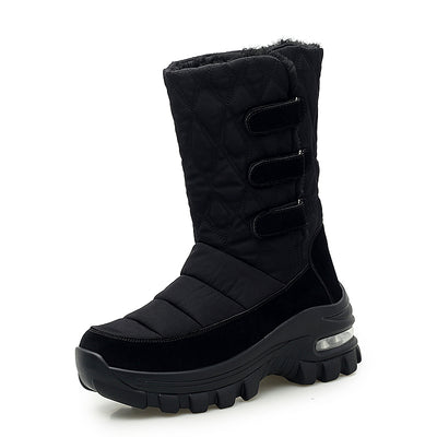 Women's Large Size Plus Velvet Women's Boots Waterproof Cotton Boots Women's Warm Shoes