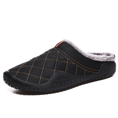 Men's casual fluffy cotton slippers to keep warm in winter