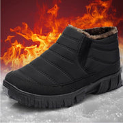 Men's winter snow new plus velvet warm one pedal waterproof middle-aged walking shoes