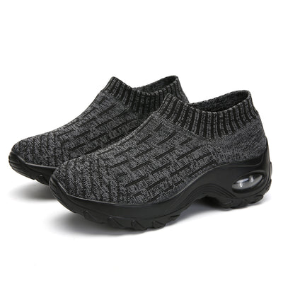 Women's movement leisure shoes convenient set of rubber socks shoes
