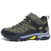 Men's middle plus velvet hiking shoes non-slip walking shoes