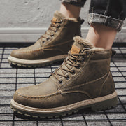 Men's winter plus velvet men's shoes high shoes Martin boots tooling boots men's shoes tide shoes