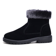 Man is convenient and comfortable warm boots and velvet recreational hiking shoes