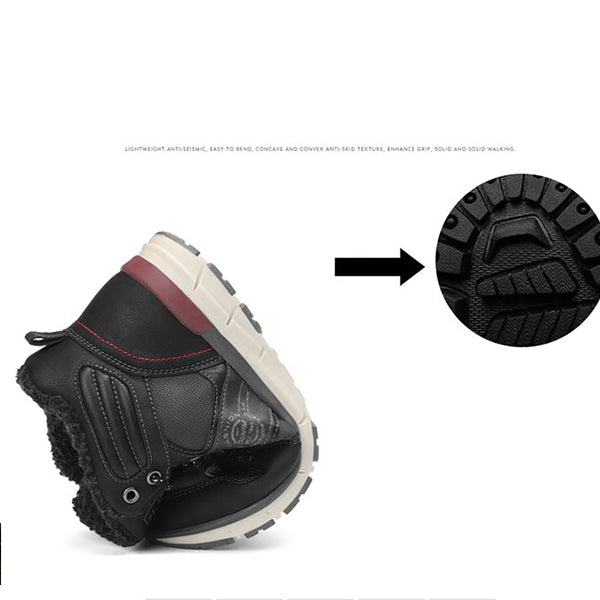 Men's large size high to help snow boots outdoor travel hiking shoes comfortable warm cotton shoes