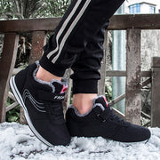Men in the winter to keep warm and cotton plus velvet hiking shoes sneakers