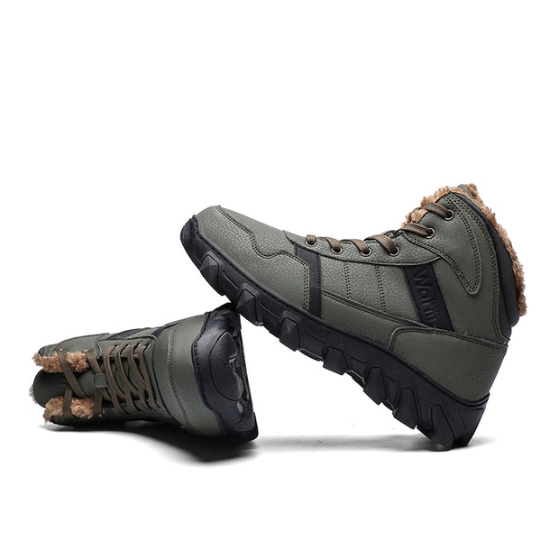 Men add cotton to keep warm in winter hiking boots outdoor leisure work boots