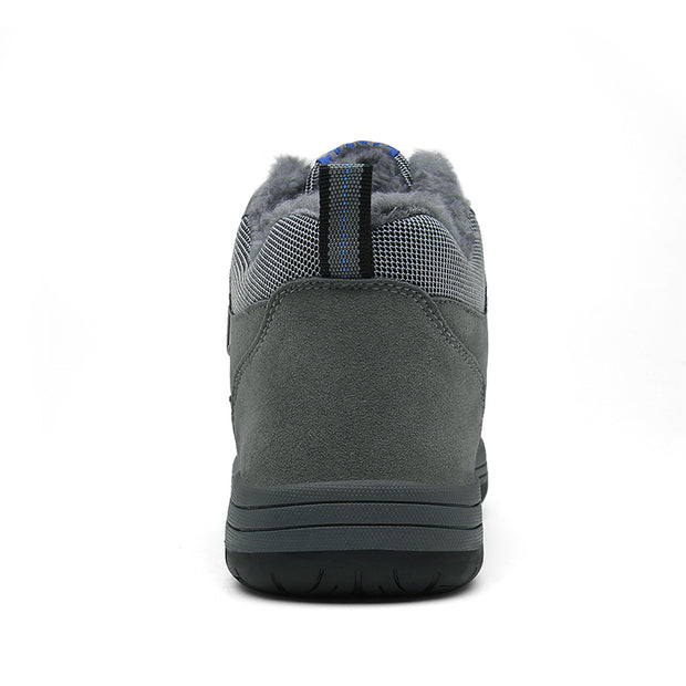Men's winter and cotton high help sneakers to keep warm and comfortable outdoor climbing shoes