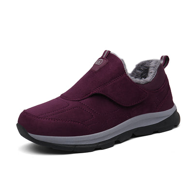 Women winter cotton shoes to keep warm and comfortable recreational hiking shoes