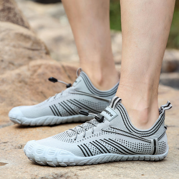 New Lovers Flying Woven Five-finger Baotou Swimming Shoes Wading Shoes Beach Shoes