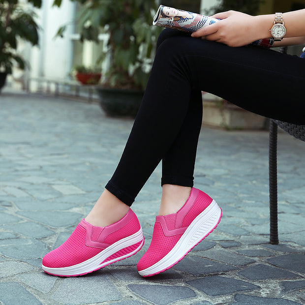 Women increased ventilation net surface wave shoes for women's shoes