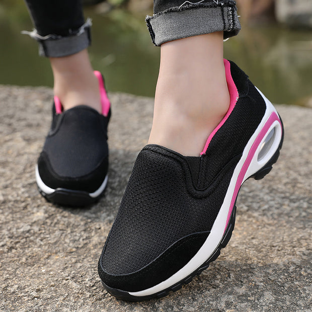 Women comfortable breathable shake shoes with thick bottom surface casual shoes