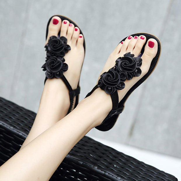 Woman Clip toe sandals women fashion all-match slides ladies star crystal roman sandals woman pearl decorate flip flops