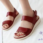 Women Fashion Peep-Toe Low Roman Sandals Flat Shoes Sexy High Quality Outsid Ladies Shoes Summer Beach Shoes Sandals