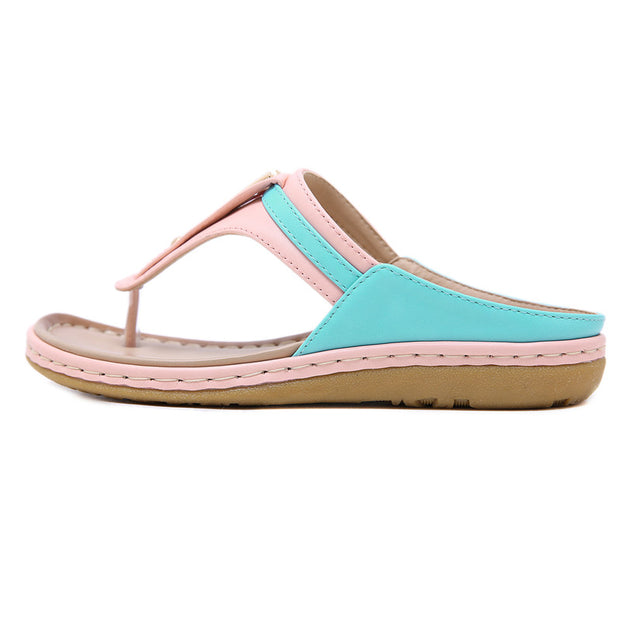 Women Color matching Slippers Summer women shoes Beach Slippers Flip Flops Sandals Women Bohemian Wedge Flops Beach Sandals
