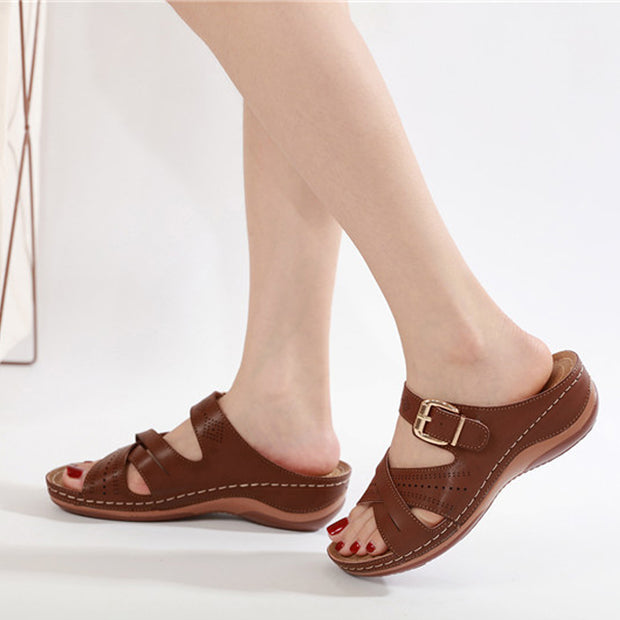 woman Plus size Summer Wedge Slippers Platform shoes woman Slipper Ladies Outside Shoes Basic Wedge Slipper Flip Flop Sandals