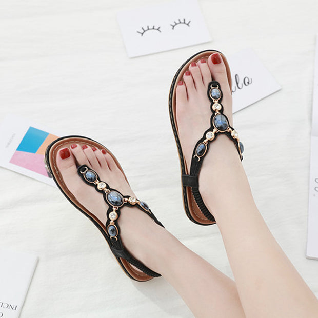 Woman Summer New sandals Fashion Flats Women Casual Beach Shoes Women's Bohemia Style Leisure sandals Large Size 35-42