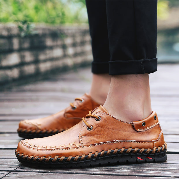 Men leisure manual with men's shoes