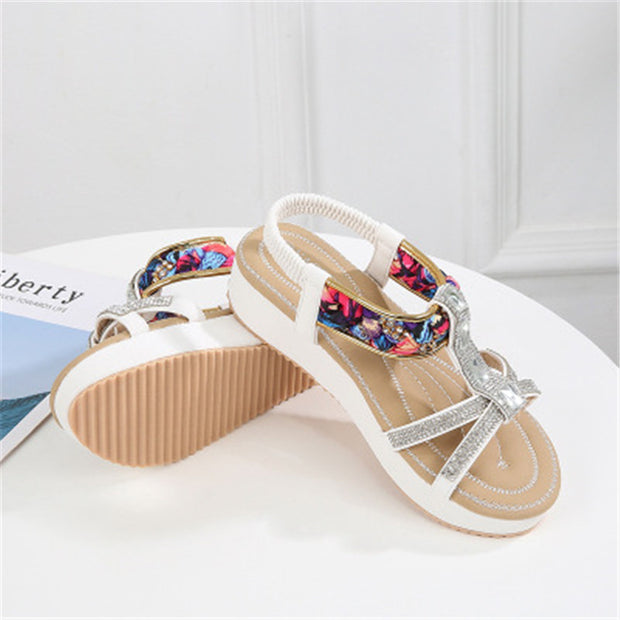 Women Fashion new sandals female summer flat round head women shoes bohemian national wind comfortable women sandals wild