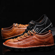 Men's leisure comfortable breathable handmade leather casual  shoes