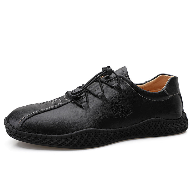 Men's Fashion Leather Sneakers Plus Size Casual Men's Shoes Hand Sewn Shoes Soft Men's Shoes