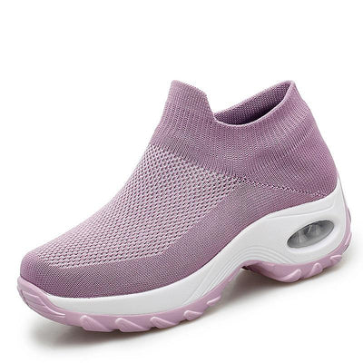 Women's Chic Mesh Breathable Shallow Mouth Slip-On Sneakers