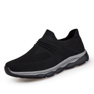 Women's Lightweight Mesh Breathable Air Cushion Flying Woven Slip-On Sneakers