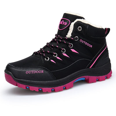 138150 Women's outdoor hiking shoes wear non-slip breathable plus velvet warm shoes