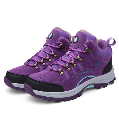 Women Plus Velvet Warm Cotton Shoes Outdoor Sports Hiking Shoes